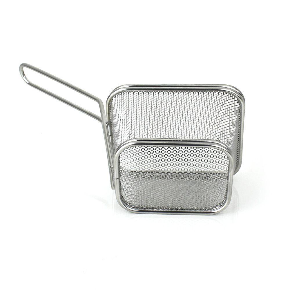 Mini Cestinha Inox para Servir Porções 10,5x9x6cm - 3251