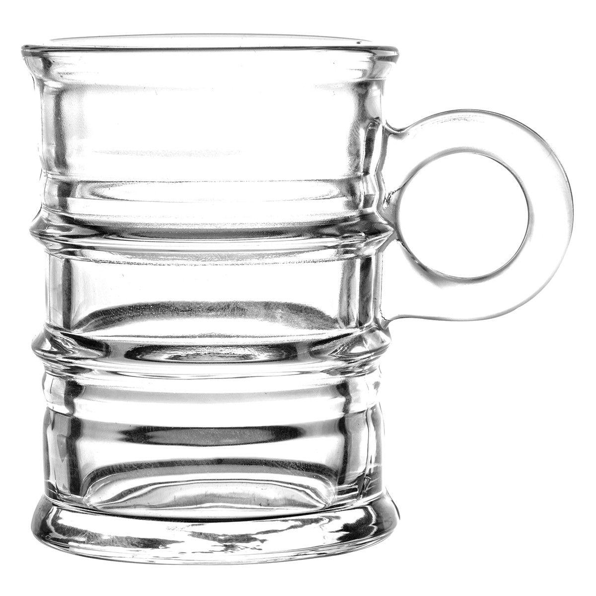 Mini Copo Vintage Vidro Transparente 95ml - Lyor