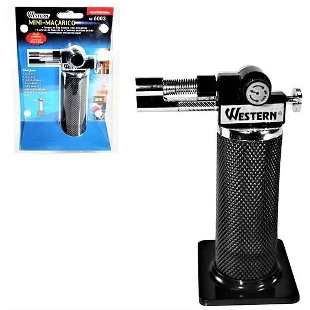 Maçarico Portátil Controle de Chama e Botao de Acendimento Western 14cm