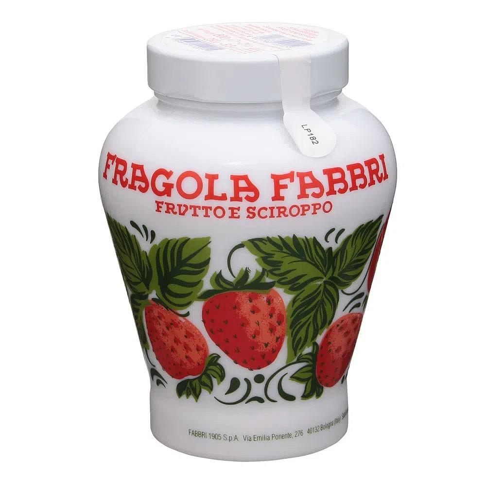 Morangos Fabbri Opaline Fruto em Calda com Vaso de Porcelana - 600gr