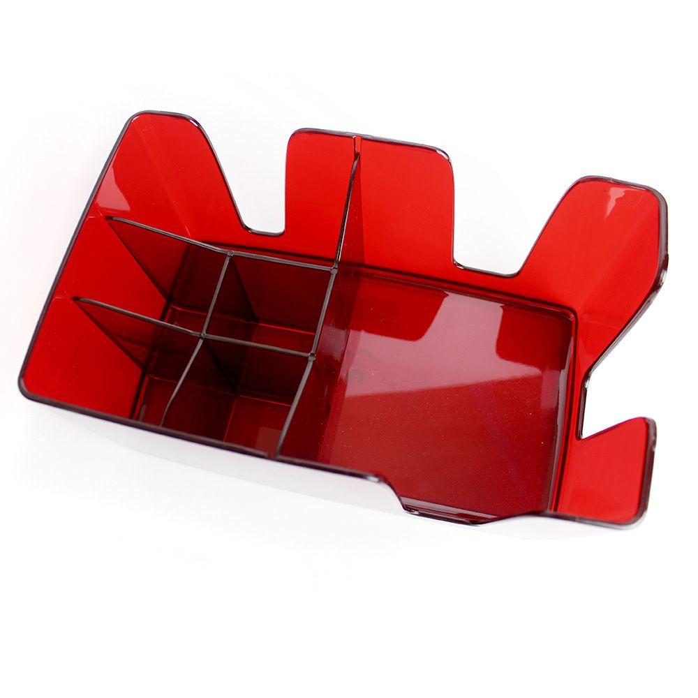 Organizador de Bar - Bar Caddy Acrílico Vermelho