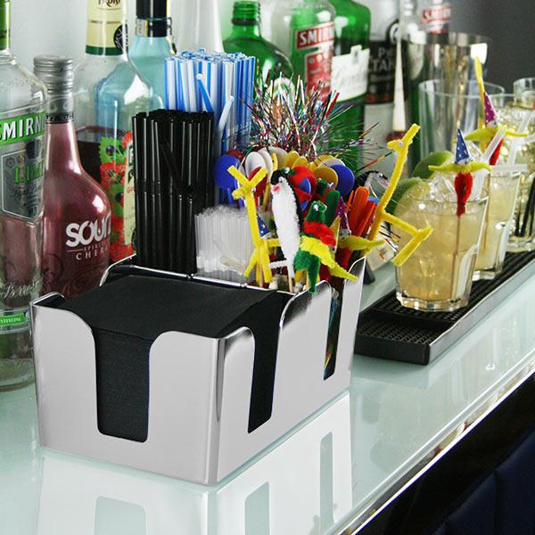 Organizador de Bar Cromado Liso
