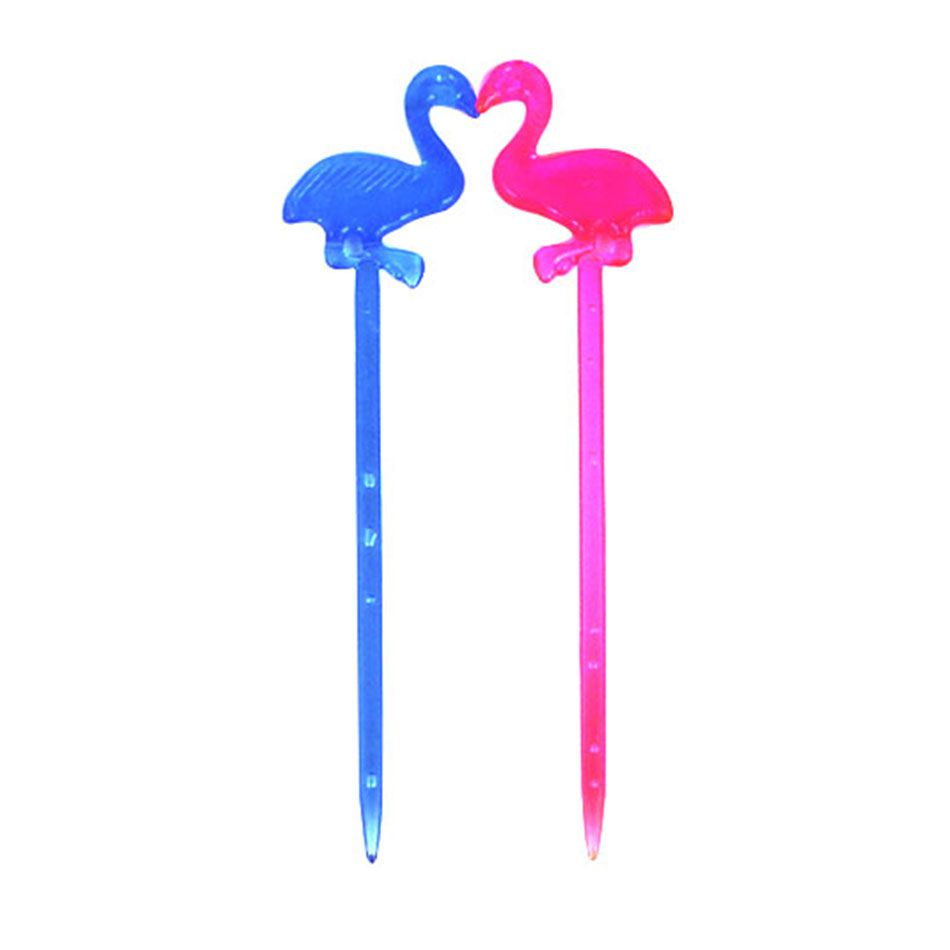 Palito Flamingo Neon Petisco e Drinks Pct 50 Unidades