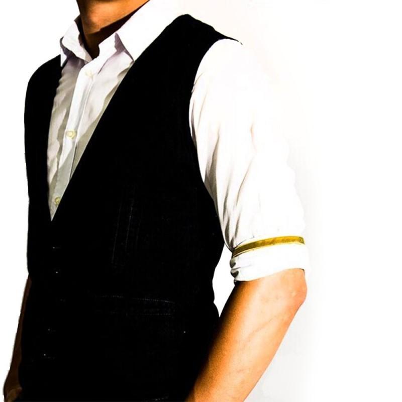 Braçadeira de Camisa para Bartender  Cor Dourada