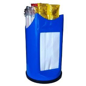 Porta Canudos, Guardanapos e Sachês 3 em 1 Plástico