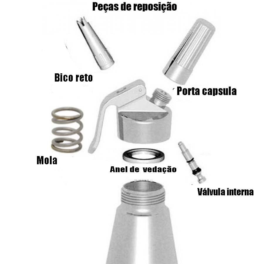 Porta capsula para sifão universal em Alumínio