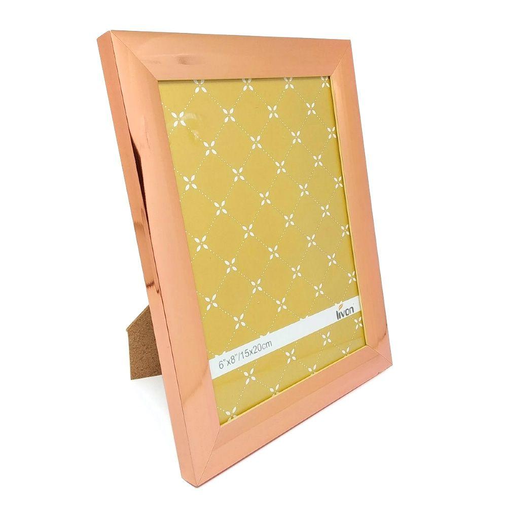 Porta Cardápio 15cm x 20cm Cor Cobre / Rose Gold Marca Lívon