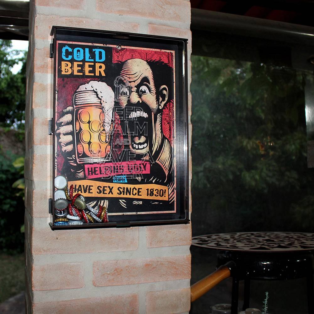 Quadro porta Tampinha - Cold Beer