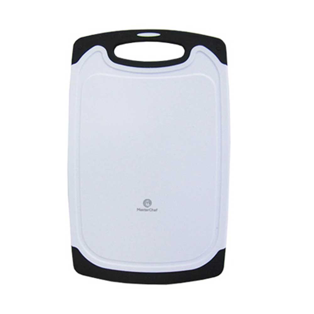 Tabua de Corte Plastico Branco c/ Alça Emborrachada 25x15cm - MasterChef