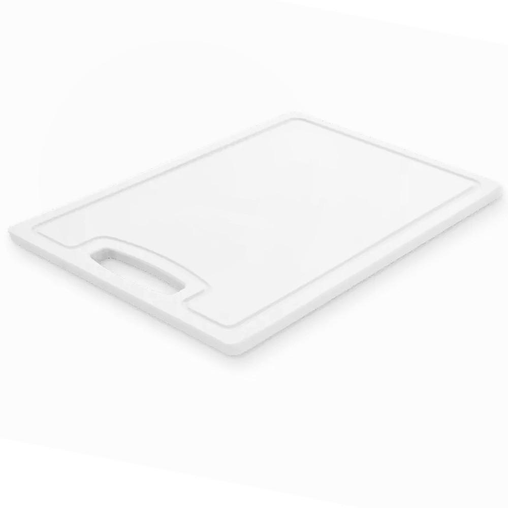 Tábua de Corte Polietileno Branca Antibactericida 25cm x 33cm x 0,6cm