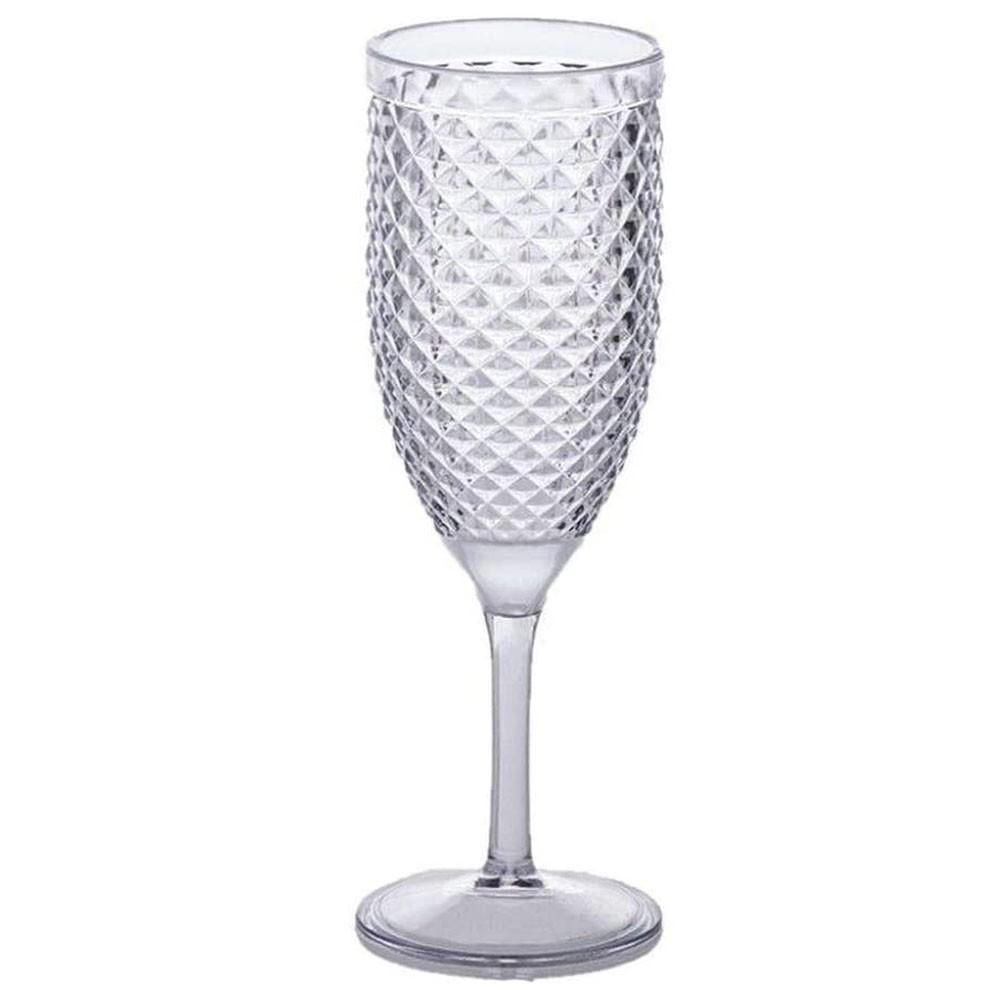Taça Champagne Acrílico Luxxor 350 ml
