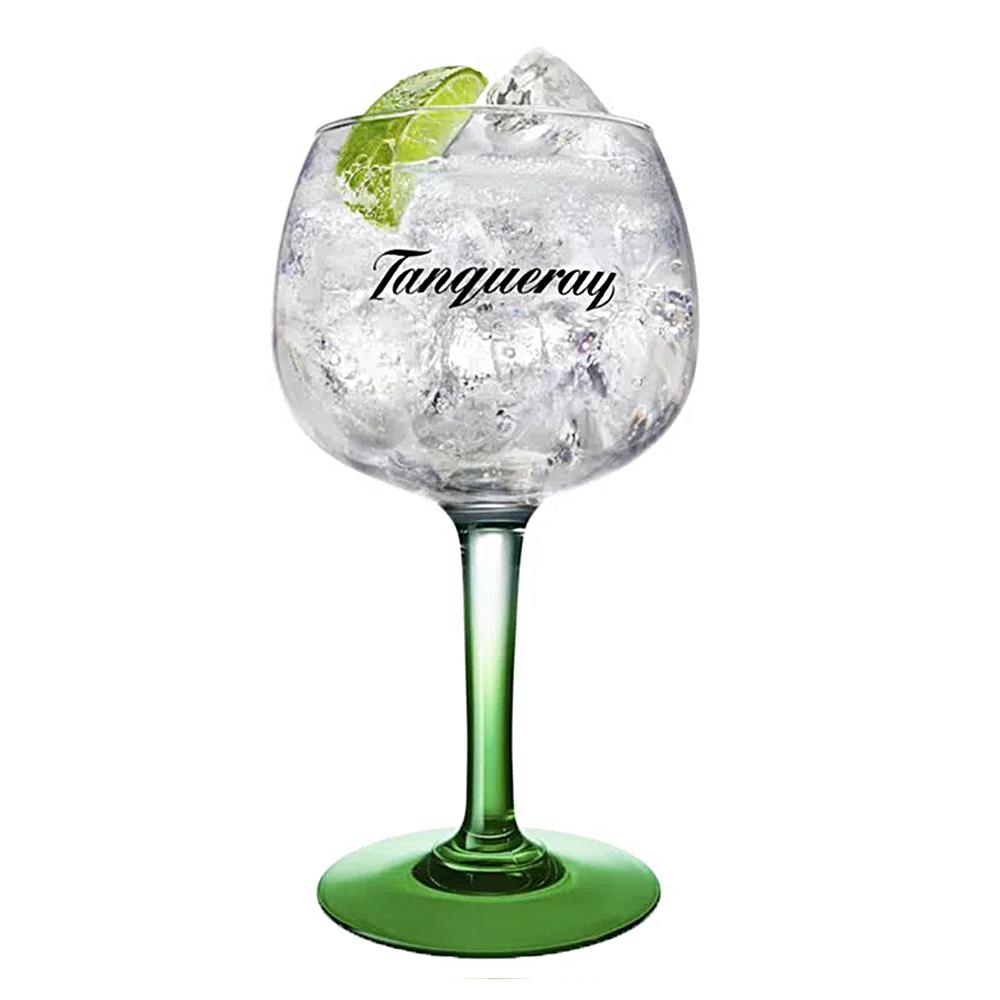 Taça de Gin Tônica em Vidro Tanqueray 600 ML Base Verde