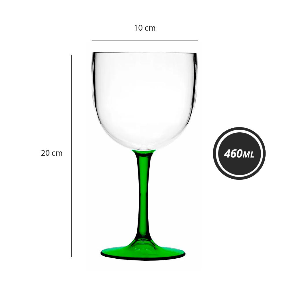 Taça London Acrílico Bicolor Verde 460ML