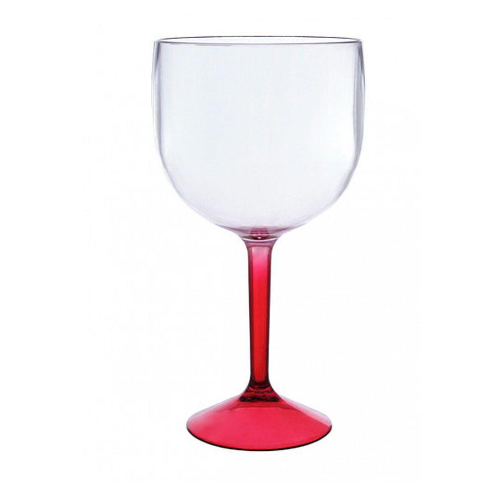 Taça London Acrílico Bicolor Vermelha 460ML