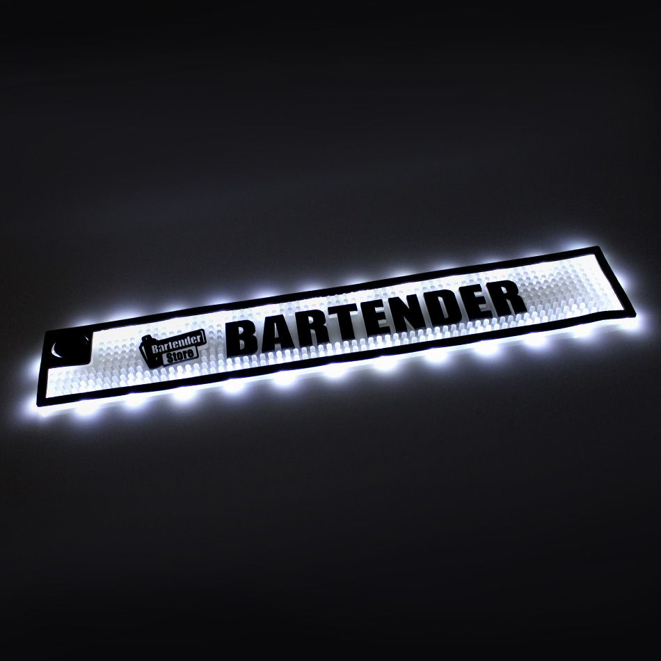 Tapete Bar Mat com Luz LED 10cm x 58cm à prova d agua