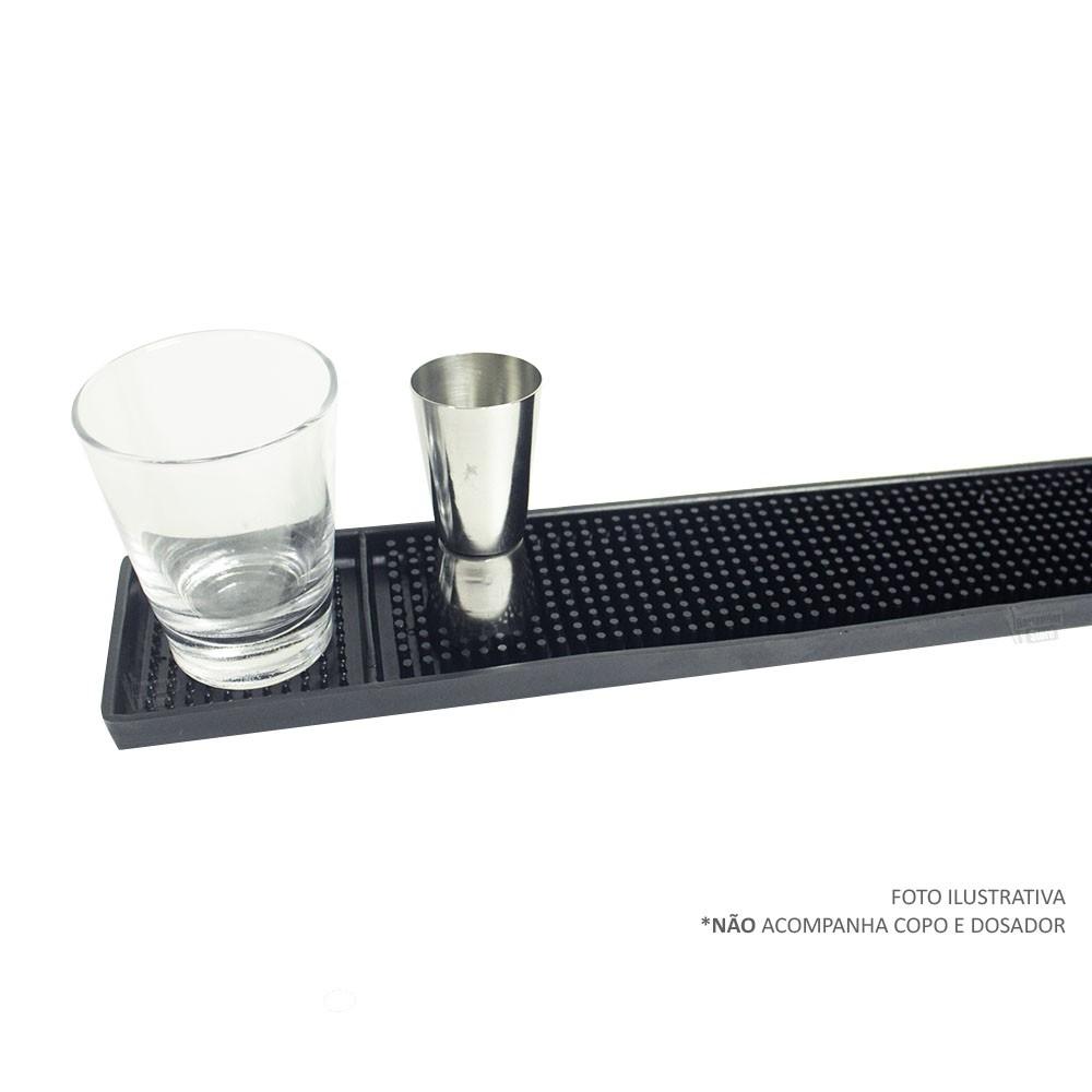 Tapete de Borracha BarMat 8x59cm - Com recuo para copo