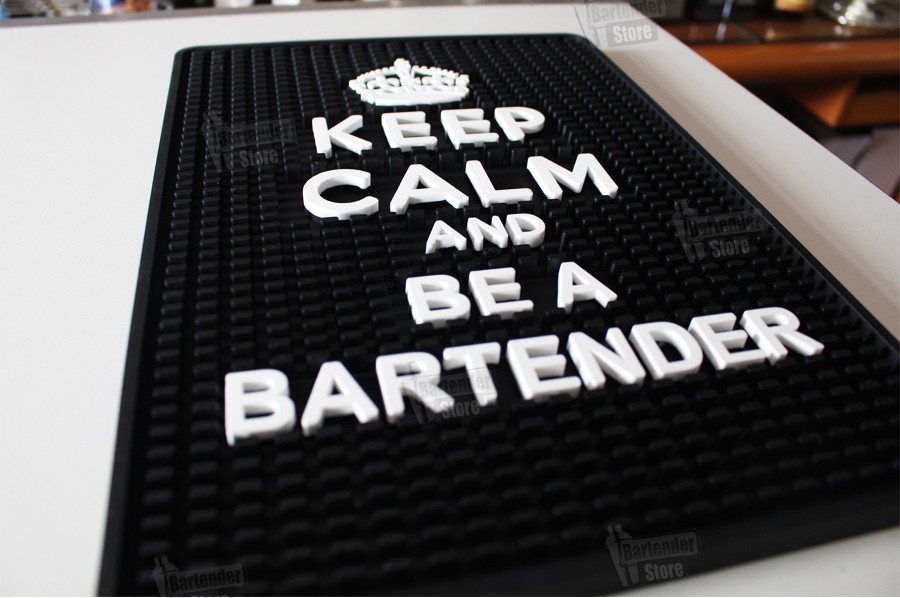 Tapete de Borracha Be a Bartender 25x35