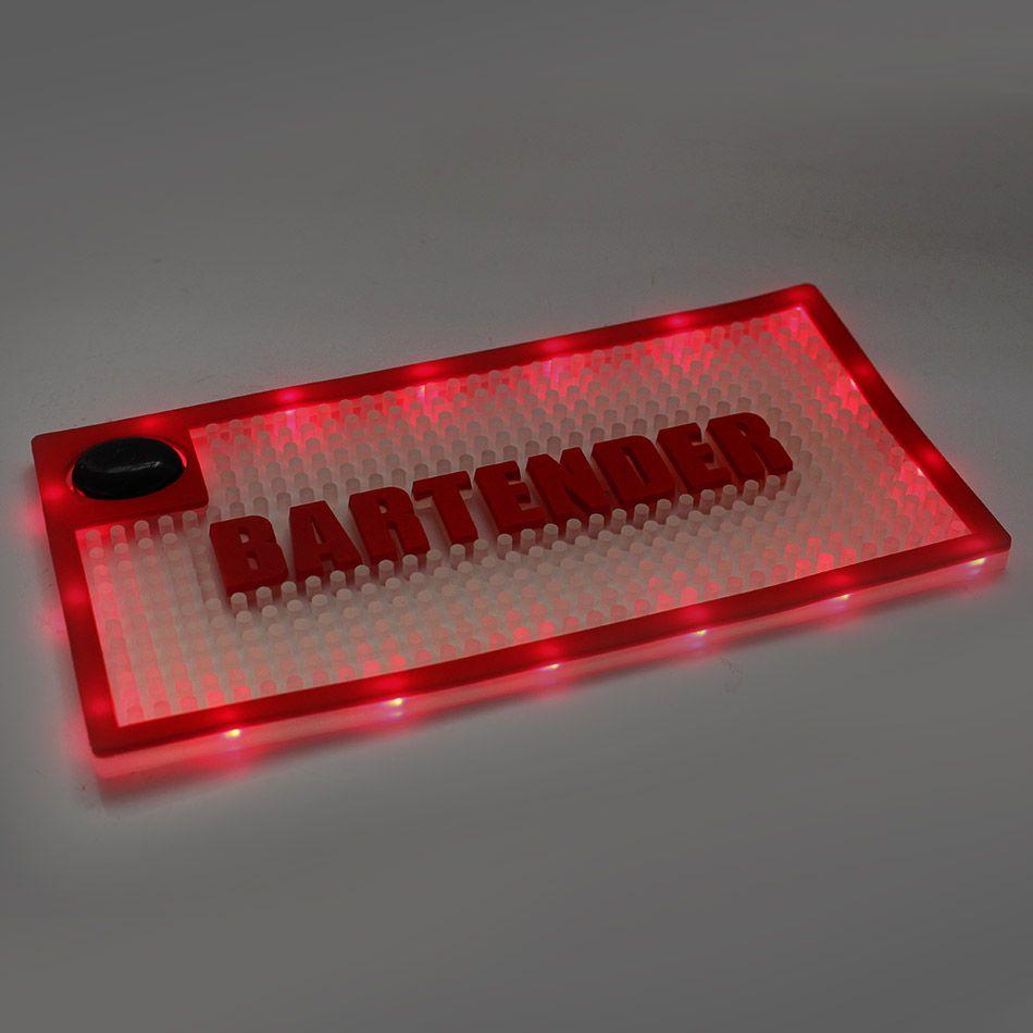 Tapete Shaker Mat com Luz LED 15x30cm Vermelho