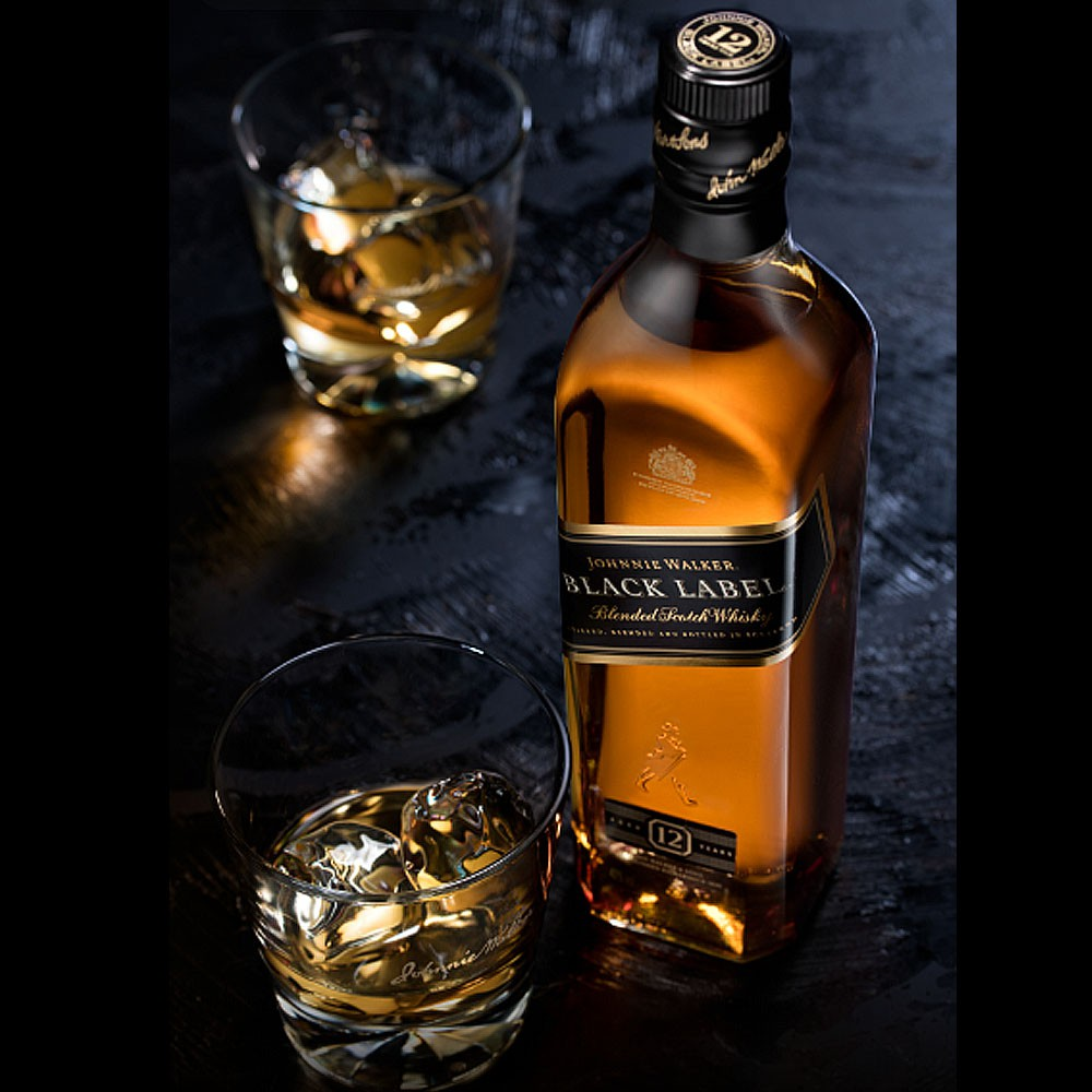 Whisky Johnnie Walker Black 12 Anos 1Litro