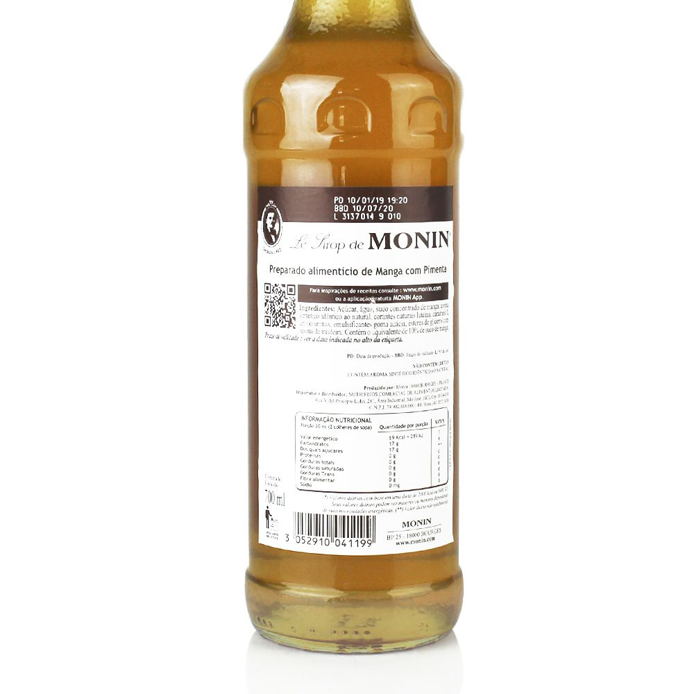 Xarope Monin Spicy Mango 700ml