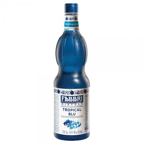 Xarope Tropical Blue Fabbri Profissional 1Litro