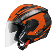 Capacete Zeus 205 Matt Orange /Aq1 Pixel Black Grey