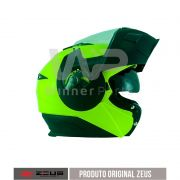 Capacete Zeus 3020 Fluor Yellow/Matt Black Chin