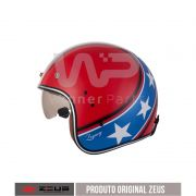 Capacete Zeus 380h Solid Red/Dark Blue K57