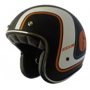 Capacete zeus 380h V2 K36 Matt Black Orange +viseira bubble