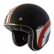 Capacete Zeus 380h V2 K36 Matt Black Red White + viseira bubble