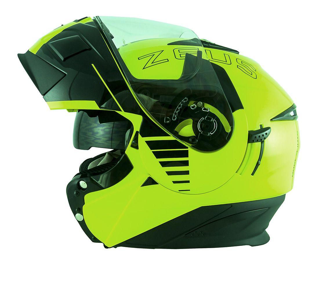 Capacete Zeus 3020 Fluor Yellow/Black AB12