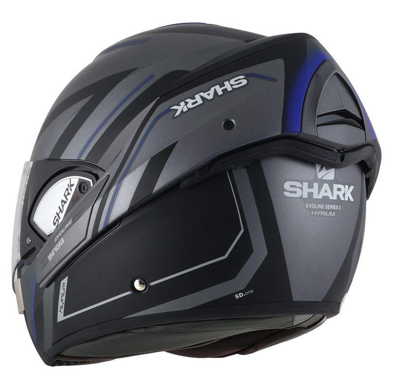 Capacete Shark Evoline Serie 3 Hyrium Matt AKB