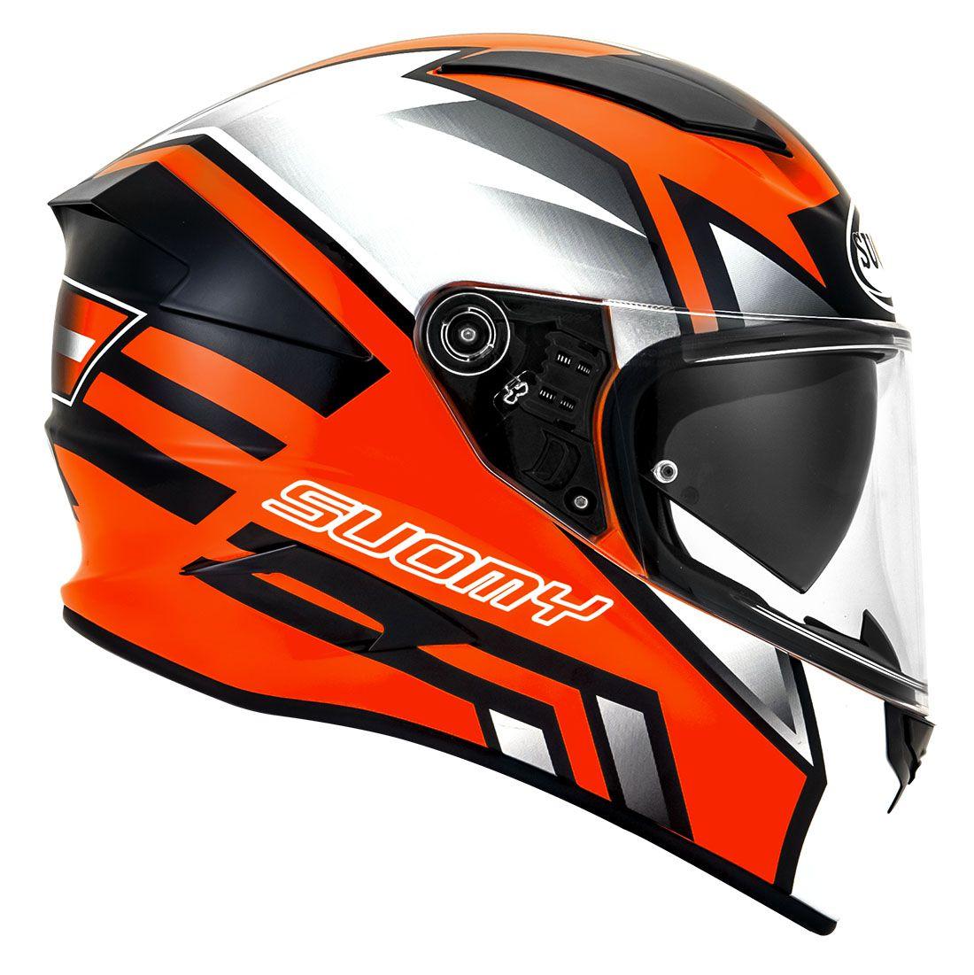 Capacete Suomy Speedstar Asymmetric Orange Fluo