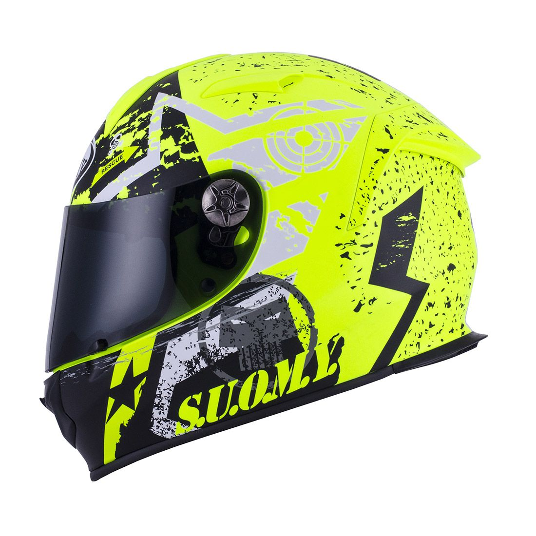 Capacete Suomy SR Sport Star Yellow Fluo