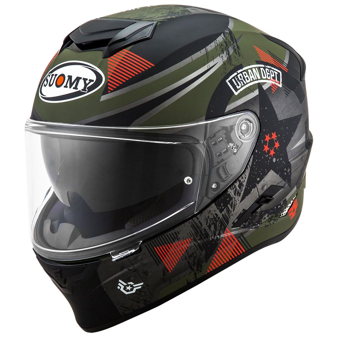 Capacete Suomy Stellar Wrench Matt Green/Grey