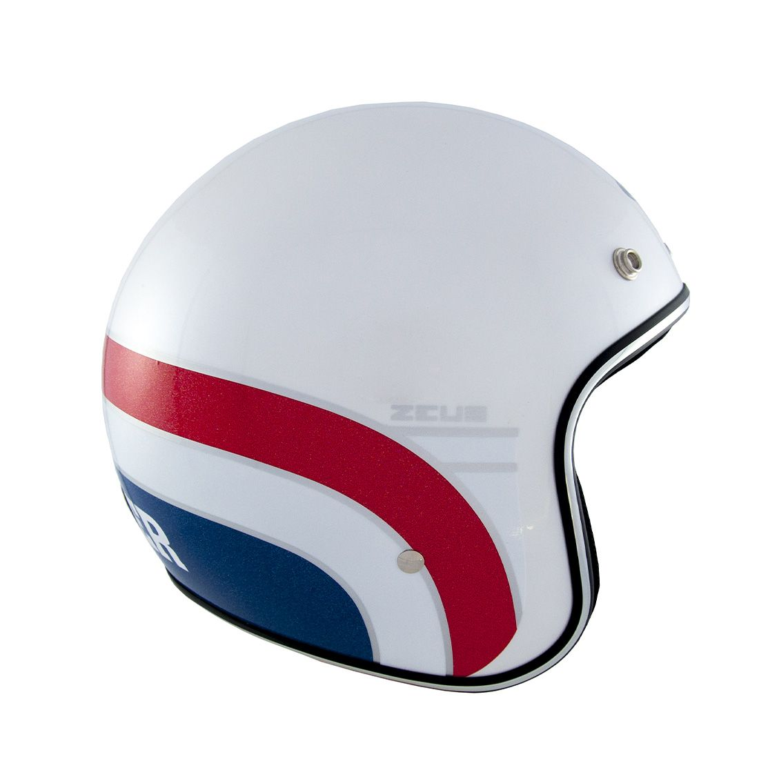 Capacete Zeus 380h Pearl White/Red K63