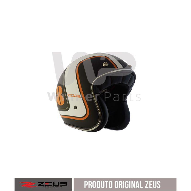 Capacete zeus 380h V2 K36 Matt Black Orange