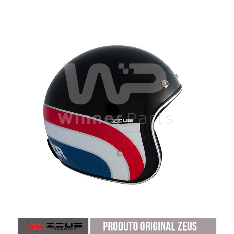 Capacete Zeus 380h V2 K36 Matt Black Red White