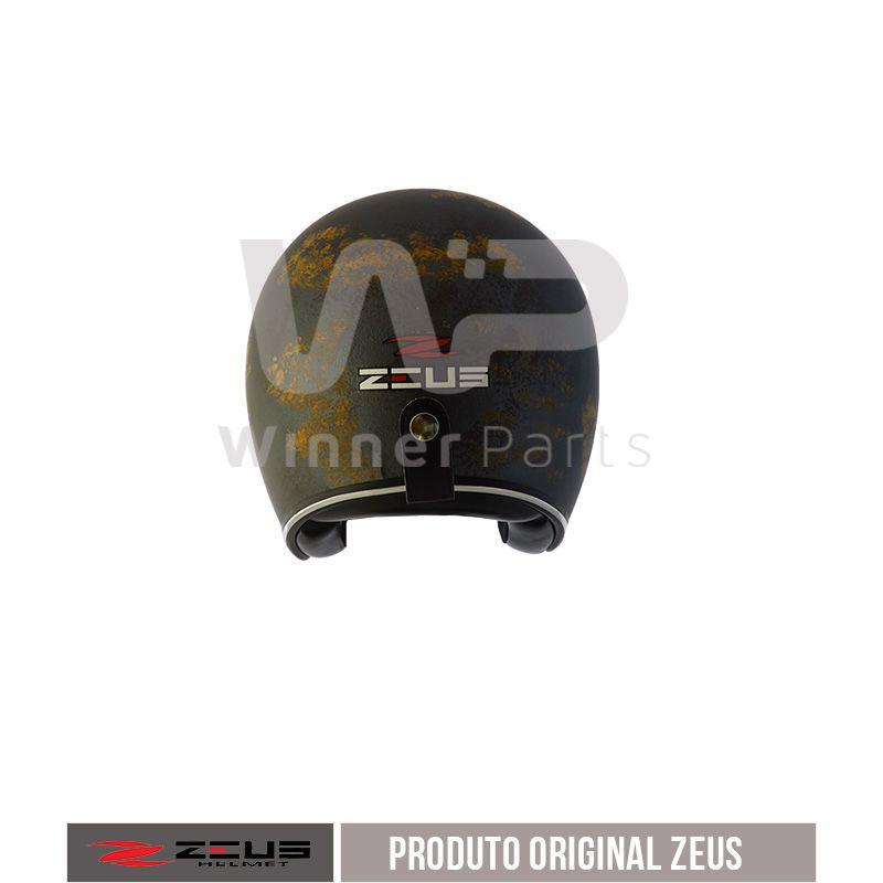 Capacete Zeus 380h V2 Rusty 1 Matt Blue Gold