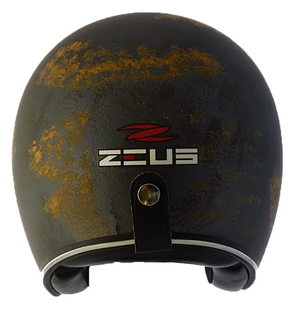 Capacete Zeus 380h V2 Rusty 1 Matt Blue Gold + viseira bubble