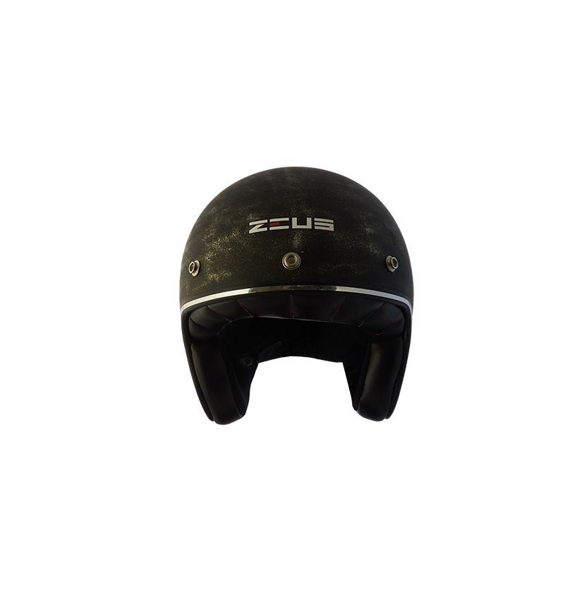 Capacete Zeus 380h V2 Rusty 2 Matt Black Silver