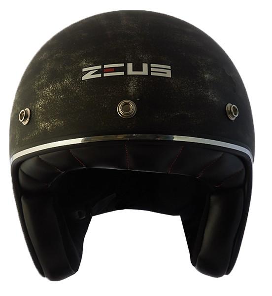 Capacete Zeus 380h V2 Rusty 2 Matt Black Silver + viseira bubble