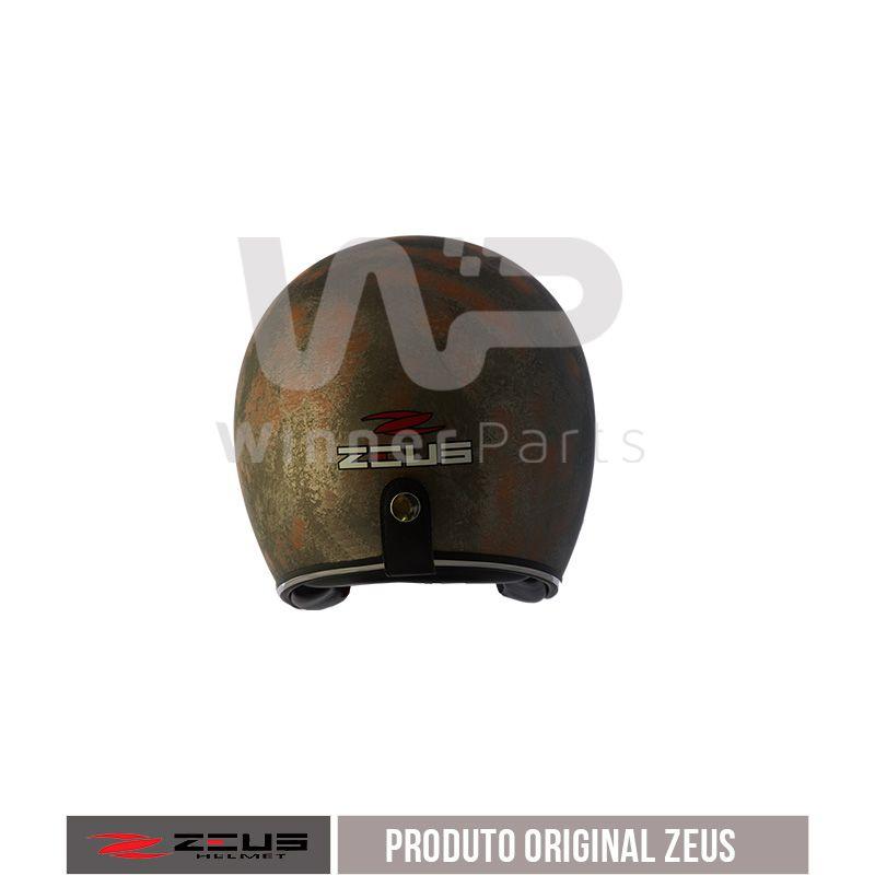 Capacete Zeus 380h V2 Rusty 3 Matt Metal Orange