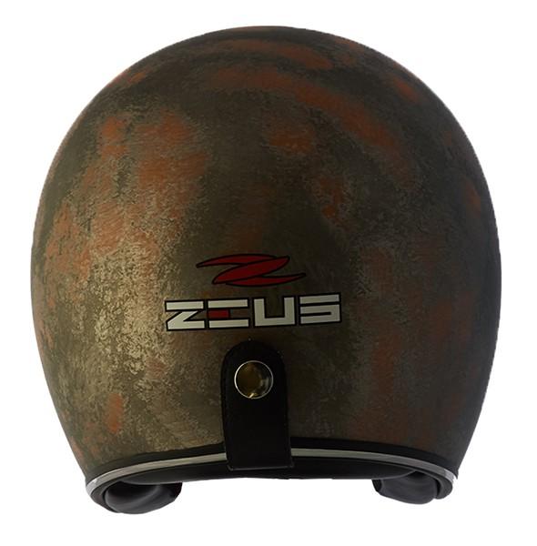 Capacete Zeus 380h V2 Rusty 3 Matt Metal Orange + viseira bubble