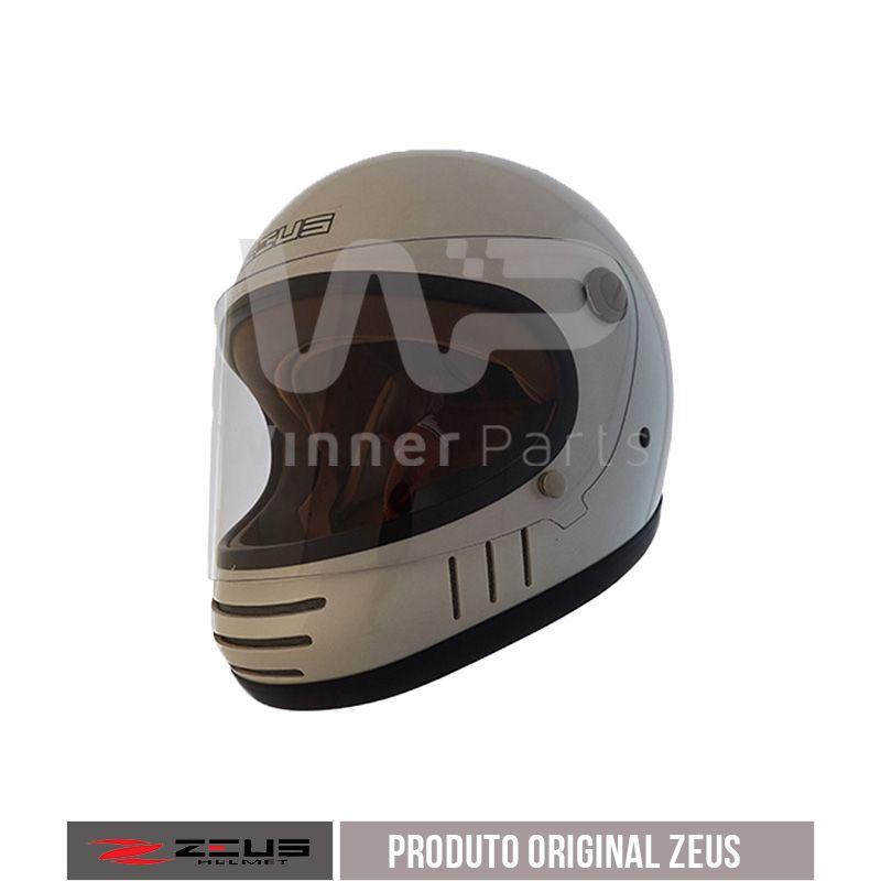 Capacete Zeus 816e Pearl white