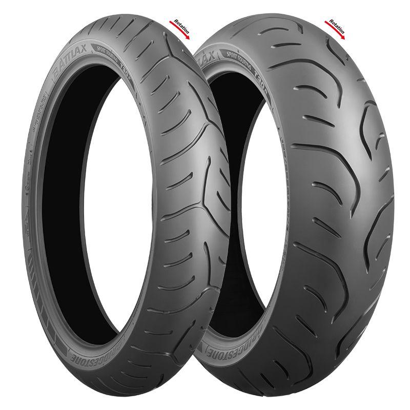 Pneus Bridgestone Battlax T30 120/70 R17 e 160/60 R17