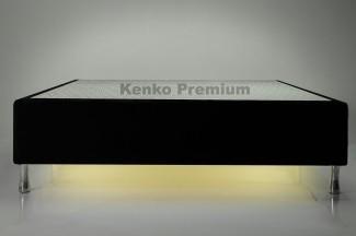 Box Base Para Colchão Iluminado Casal 1,38x1,88 Usb C/kit Conect Suede Kenko Premium