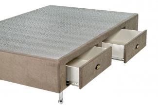 Box Base Para Colchão King Size Com Gavetas Suede 1,93 x 2,03 Kenko Premium