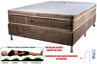 Colchão Magnético Casal Kenko Premium Standart  C/ Massagem Eletrônica Energia Bioquãntica 1,38x1,88x25cm
