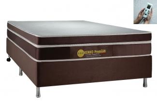 Colchão Magnético Kenko Premium Casal 1,38x1,88x27cm Plus C/ Massagem Eletrônica  Energia Bioquãntica + Cromoterapia